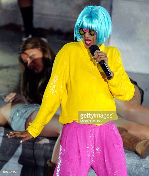 Singer MIA performs onstage during Spike TV's 'Scream 2010' at The Greek Theatre on October 16 2010 in Los Angeles California