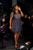 Singer Mica Paris performs at the Jazz Cafe on October 25 2013 in London England