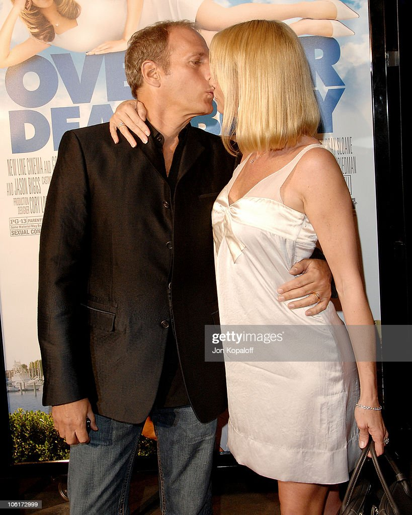 Singer Michael Bolton and actress Nicollette Sheridan arrive at the Los Angeles Premiere 'Over Her Dead Body' at the ArcLight Hollywood Theater on...