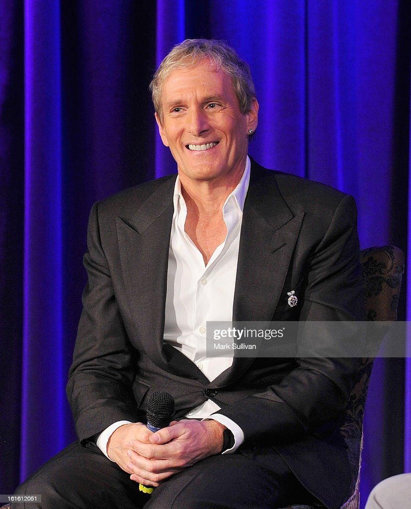 Singer <a gi-track='captionPersonalityLinkClicked' href=/galleries/search?phrase=Michael+Bolton&family=editorial&specificpeople=208230 ng-click='$event.stopPropagation()'>Michael Bolton</a> onstage during An Evening With <a gi-track='captionPersonalityLinkClicked' href=/galleries/search?phrase=Michael+Bolton&family=editorial&specificpeople=208230 ng-click='$event.stopPropagation()'>Michael Bolton</a> at The GRAMMY Museum on February 12, 2013 in Los Angeles, California.