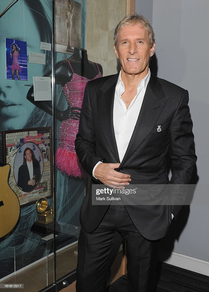 Singer Michael Bolton poses in The GRAMMY Museum following An Evening With Michael Bolton at The GRAMMY Museum on February 12, 2013 in Los Angeles, California.