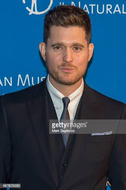 Singer Michael Buble attends the 2015 American Museum Of Natural History Museum Gala at American Museum of Natural History on November 19 2015 in New...