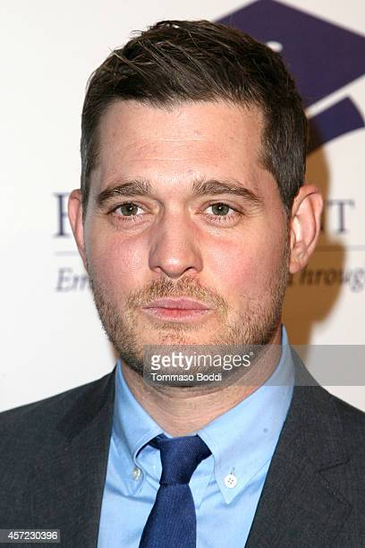 Singer Michael Buble attends the 20th annual Fulfillment Fund Stars benefit gala held at The Beverly Hilton Hotel on October 14 2014 in Beverly Hills...