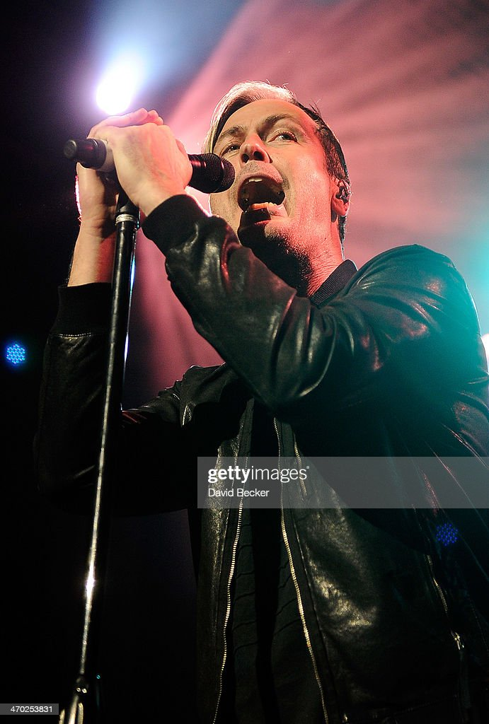 Singer Michael 'Fitz' Fitzpatrick of Fitz and the Tantrums performs at The Chelsea at The Cosmopolitan of Las Vegas on February 18, 2014 in Las Vegas, Nevada.