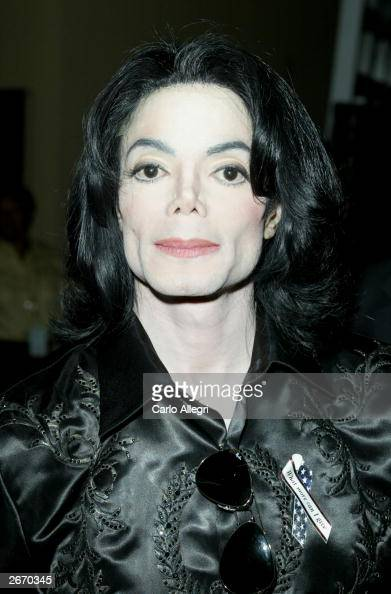 Singer Michael Jackson backstage at The 2003 Radio Music Awards at the Aladdin Casino Resort October 27 2003 in Las Vegas Nevada News repaorts...