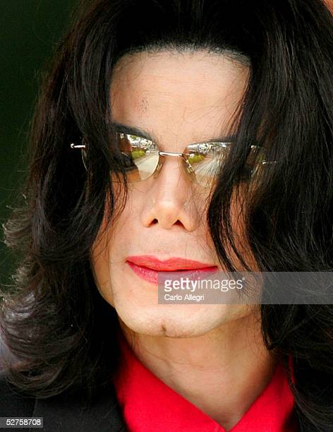 Singer Michael Jackson departs the Santa Barbara County courthouse on May 4 2005 in Santa Maria California Jackson is charged in a 10count indictment...