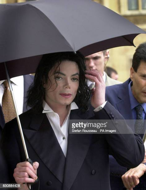 US singer Michael Jackson during a tour of the Houses of Parliament in London Jackson was the guest of Labour Peer Lord Janner who fixed up the...