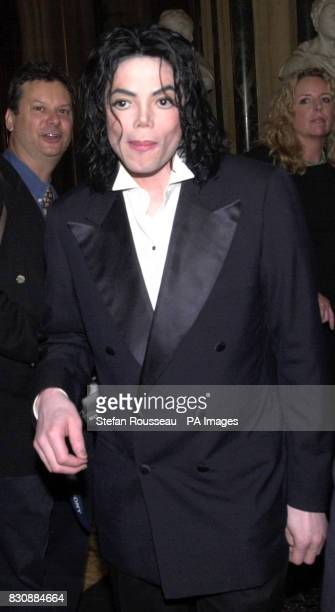 US singer Michael Jackson during a tour of the Houses of Parliment in London Jackson was the guest of Labour Peer Lord Janner who fixed up the star's...
