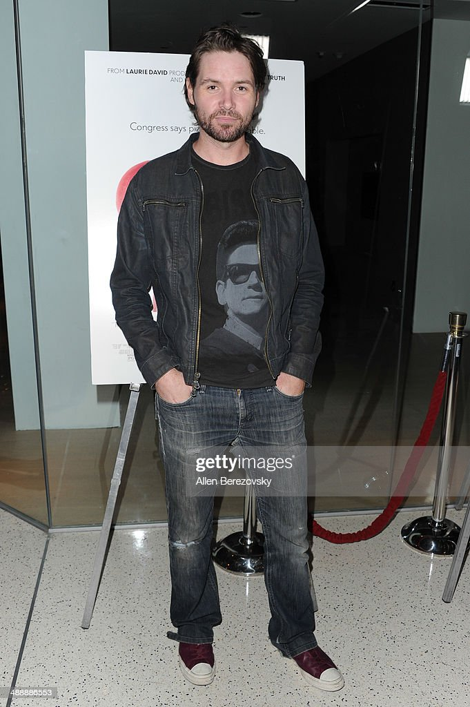 Singer Michael Johns arrives at the Los Angeles premiere of 'Fed Up' at Pacfic Design Center on May 8, 2014 in West Hollywood, California.