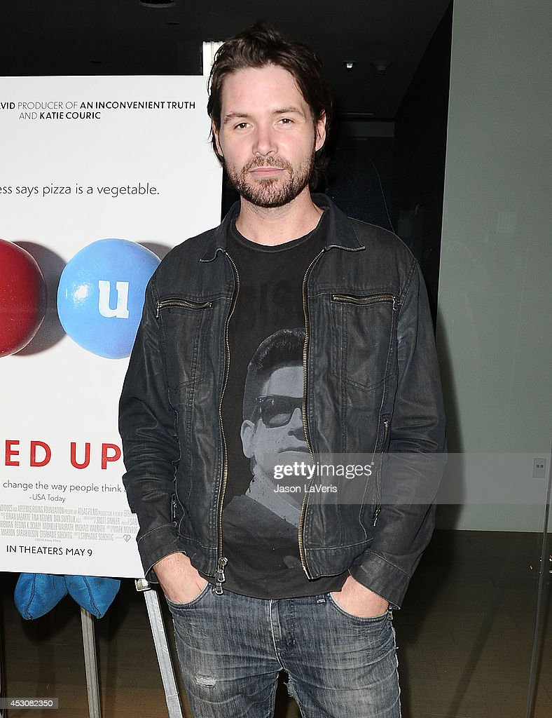Singer <a gi-track='captionPersonalityLinkClicked' href=/galleries/search?phrase=Michael+Johns&family=editorial&specificpeople=4897964 ng-click='$event.stopPropagation()'>Michael Johns</a> attends the premiere of 'Fed Up' at Pacfic Design Center on May 8, 2014 in West Hollywood, California.