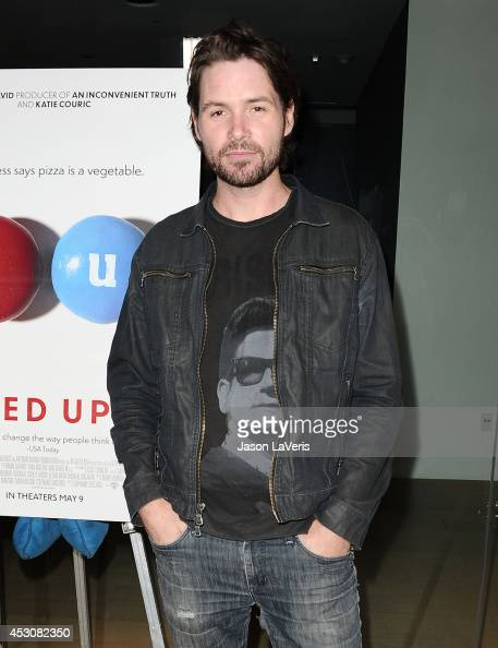 Singer Michael Johns attends the premiere of 'Fed Up' at Pacfic Design Center on May 8 2014 in West Hollywood California