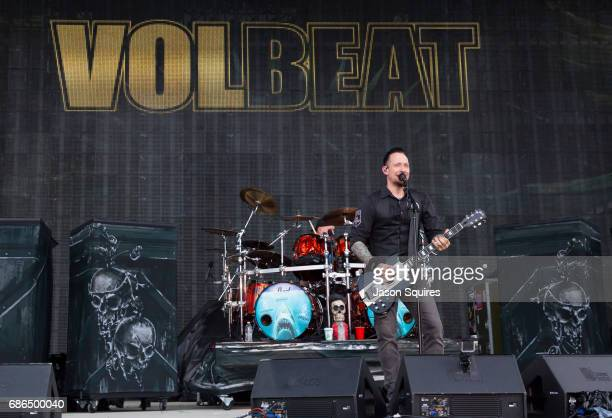Singer Michael Poulsen of Volbeat performs at MAPFRE Stadium on May 21 2017 in Columbus Ohio