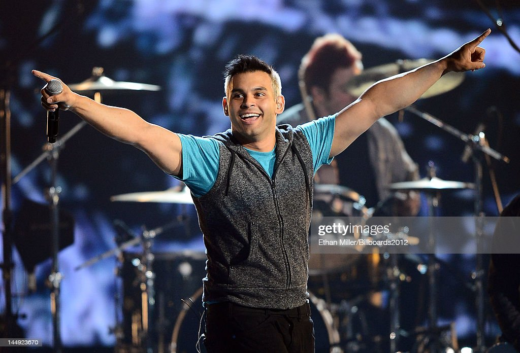 Singer Michael Ragosta of Patent Pending performs onstage at the 2012 Billboard Music Awards held at the MGM Grand Garden Arena on May 20, 2012 in Las Vegas, Nevada.