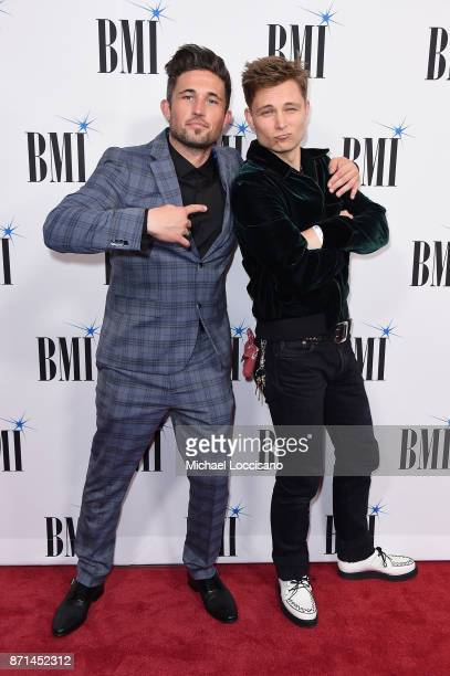 Singer Michael Ray and singersongwriter Frankie Ballard attend the 65th Annual BMI Country awards on November 7 2017 in Nashville Tennessee