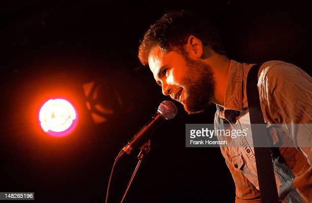 Singer Michael Rosenberg aka Passenger performs live during a concert at the Comet Club on July 12 2012 in Berlin Germany