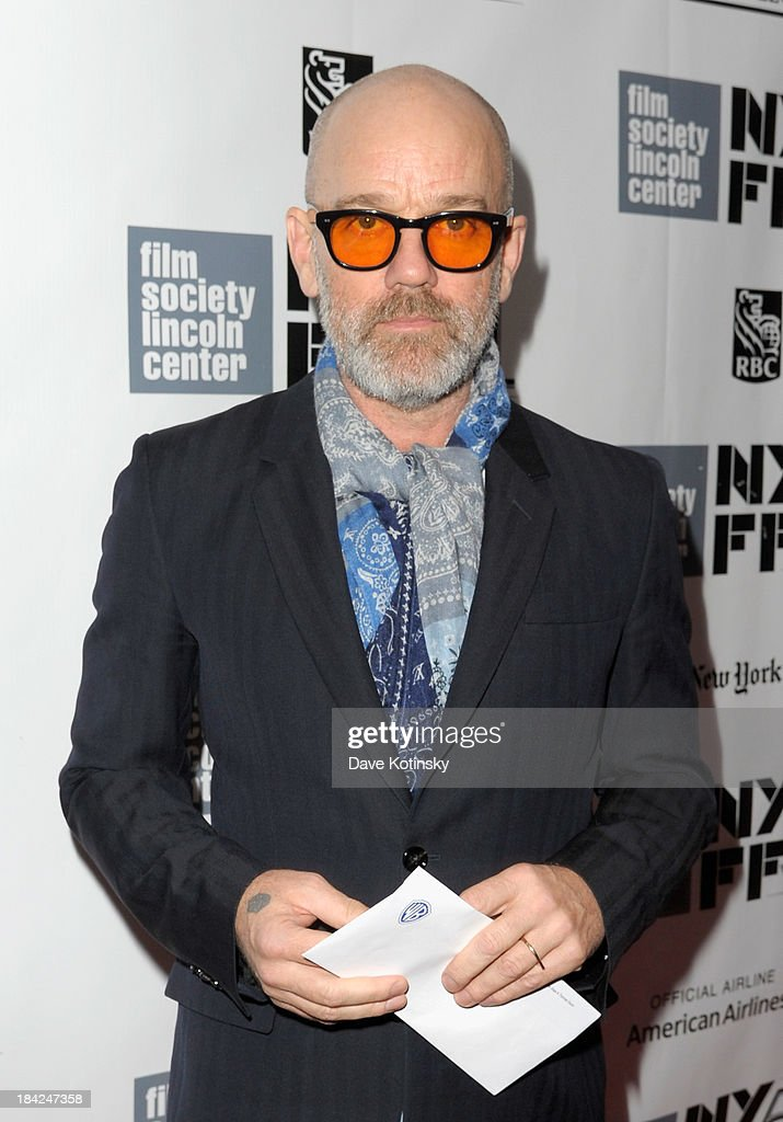 Singer Michael Stipe attends the Closing Night Gala Presentation Of 'Her' during the 51st New York Film Festival at Alice Tully Hall at Lincoln Center on October 12, 2013 in New York City.