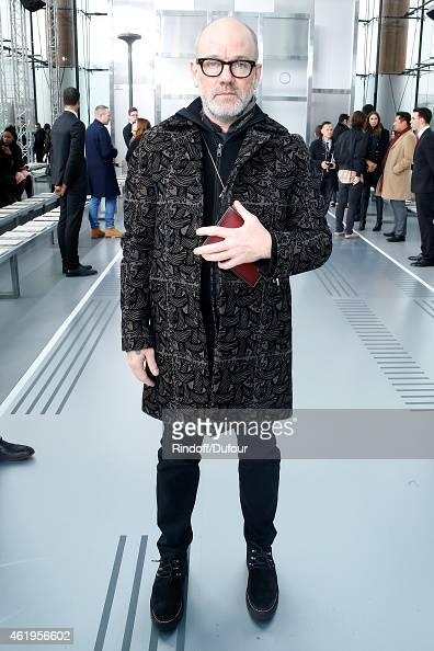 Singer Michael Stipe attends the Louis Vuitton Menswear Fall/Winter 20152016 Show as part of Paris Fashion Week on January 22 2015 in Paris France