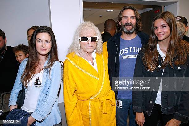 Singer Michel Polnareff Frederic Beigbeder his wife Lara Micheli and their daughter attend Michel Polnareff performs at AccorHotels Arena Bercy Day 4...