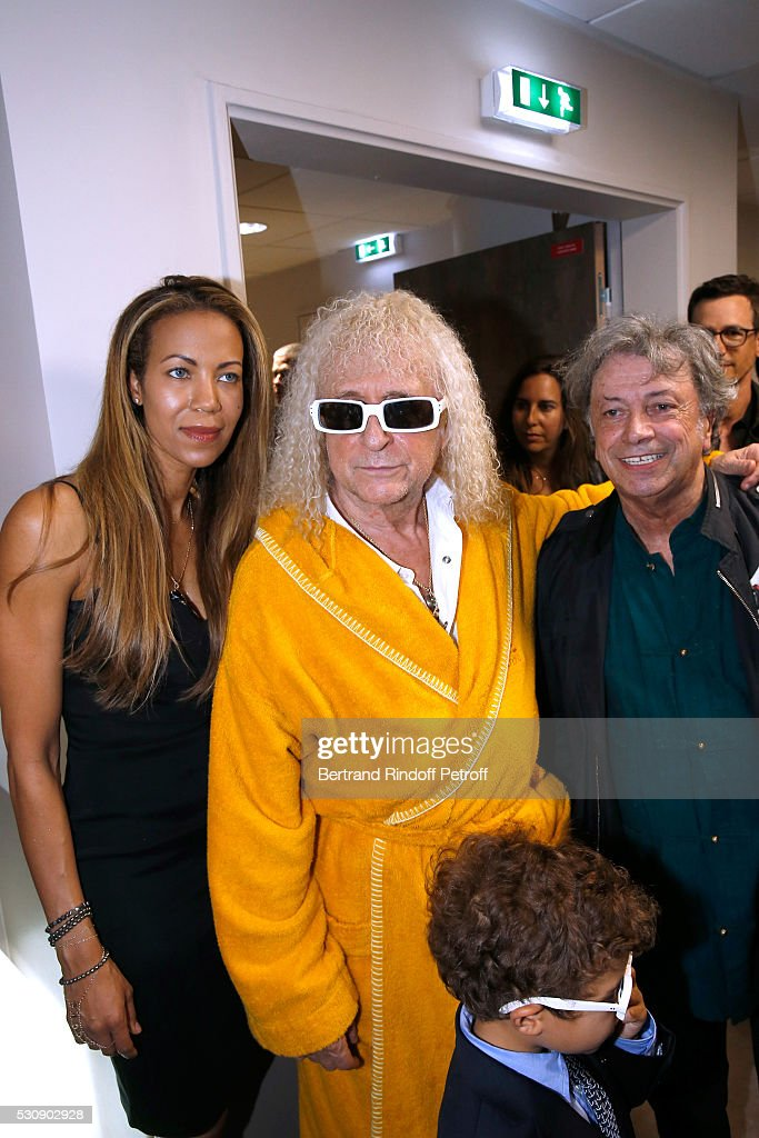 Singer <a gi-track='captionPersonalityLinkClicked' href=/galleries/search?phrase=Michel+Polnareff&family=editorial&specificpeople=1727783 ng-click='$event.stopPropagation()'>Michel Polnareff</a>, his wife Danyellah, their son Louka and singer <a gi-track='captionPersonalityLinkClicked' href=/galleries/search?phrase=Herve+Vilard&family=editorial&specificpeople=2024864 ng-click='$event.stopPropagation()'>Herve Vilard</a> attend <a gi-track='captionPersonalityLinkClicked' href=/galleries/search?phrase=Michel+Polnareff&family=editorial&specificpeople=1727783 ng-click='$event.stopPropagation()'>Michel Polnareff</a> performs at AccorHotels Arena Bercy : Day 4 on May 11, 2016 in Paris.