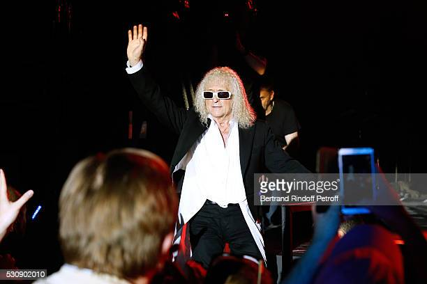 Singer Michel Polnareff performs at AccorHotels Arena Bercy Day 4 on May 11 2016 in Paris
