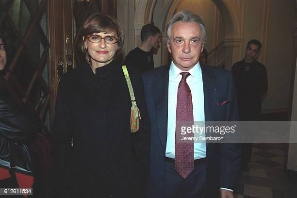 Singer Michel Sardou with his wife the journalist Anne Marie Perier