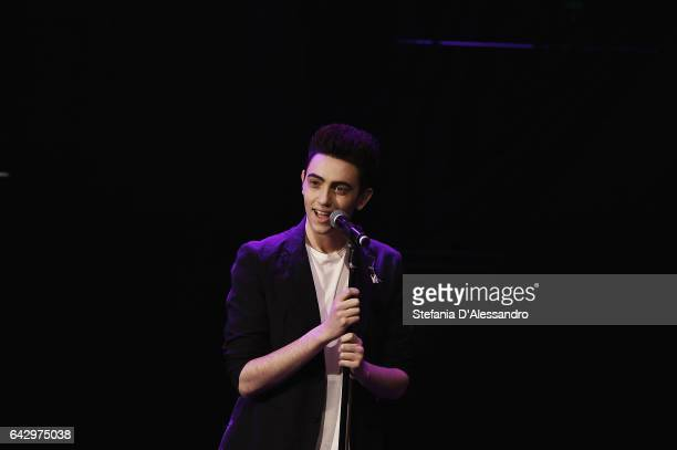 Singer Michele Bravi attends 'Che Tempo Che Fa' tv show on February 19 2017 in Milan Italy