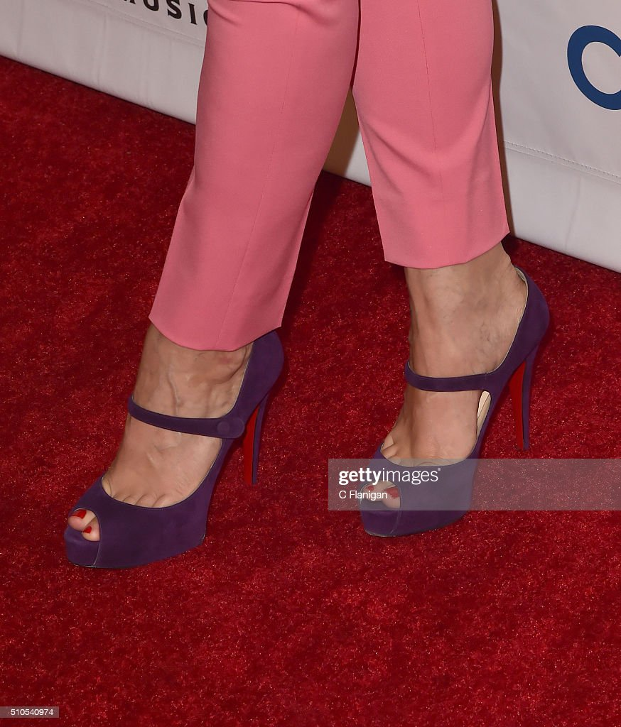 Singer Michelle Branch Shoe Detail attends Universal Music Group's 2016 GRAMMY after party at The Theatre At The Ace Hotel on February 15 2016 in Los...