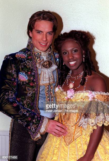 Singer Michelle Gayle and John Barrowman who play 'Belle' and 'the Beast' respectively in a recast 'Beauty and the Beast' musical at the Dominion...