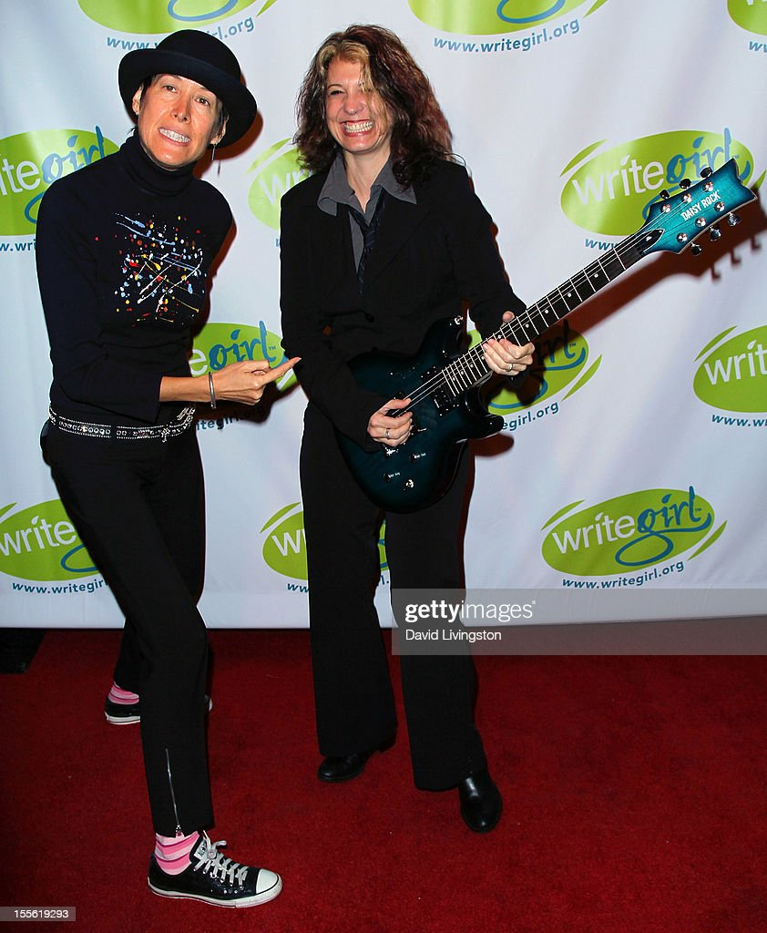 Singer Michelle Shocked and guitarist Janet Robin attend the Bold Ink Awards at the Eli and Edythe Broad Stage on November 5 2012 in Santa Monica...