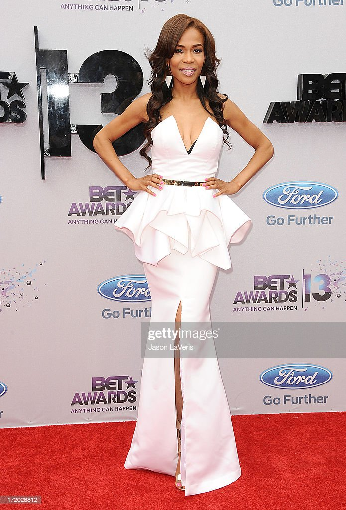 Singer Michelle Williams attends the 2013 BET Awards at Nokia Theatre L.A. Live on June 30, 2013 in Los Angeles, California.