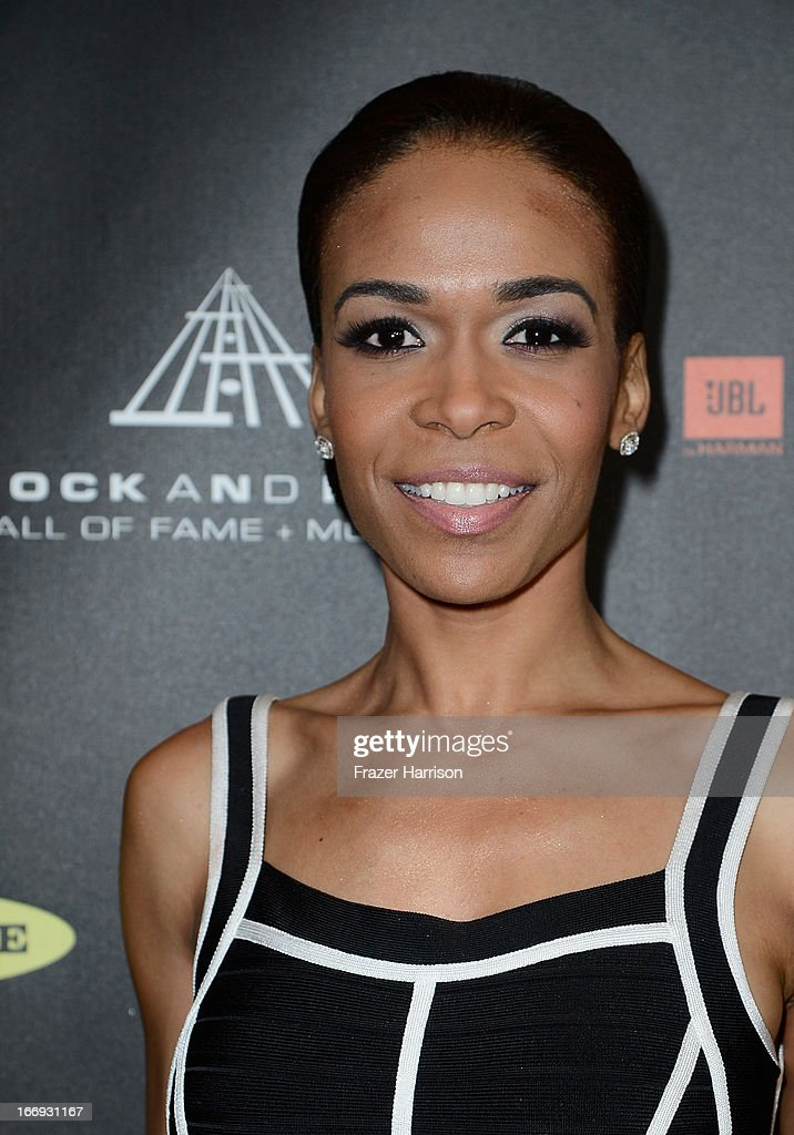 Singer Michelle Williams attends the 28th Annual Rock and Roll Hall of Fame Induction Ceremony at Nokia Theatre L.A. Live on April 18, 2013 in Los Angeles, California.