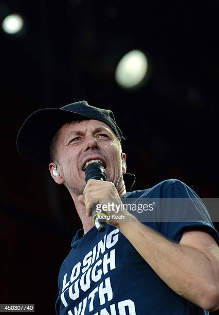 Singer Michi Beck of the band 'Die Fantastischen Vier' performs on Centerstage during the third day of 'Rock im Park' at Zeppelinfeld on June 8 2014...