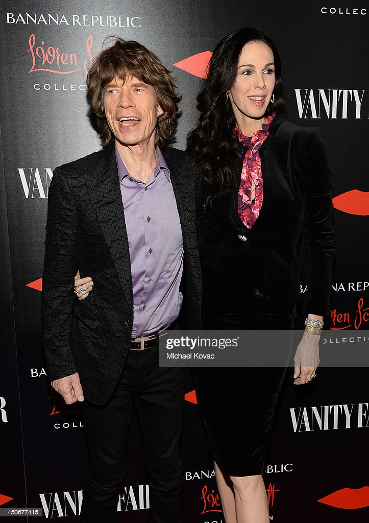 Singer Mick Jagger and fashion designer L'Wren Scott attend the launch celebration of the Banana Republic L'Wren Scott Collection hosted by Banana Republic, L'Wren Scott and Krista Smith at Chateau Marmont on November 19, 2013 in Los Angeles, California.