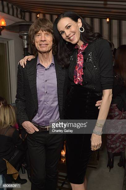 Singer Mick Jagger and fashion designer L'Wren Scott attend the launch celebration of the Banana Republic L'Wren Scott Collection hosted by Banana...