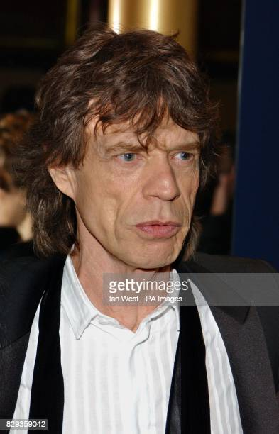 Singer Mick Jagger arrives for the world charity premiere of Alfie at the Empire Leicester Square in central London in aid of MakeAWish foundation