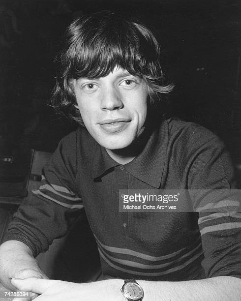 Singer Mick Jagger of the rock and roll band 'The Rolling Stones' poses for a portrait in circa 1965 in London England