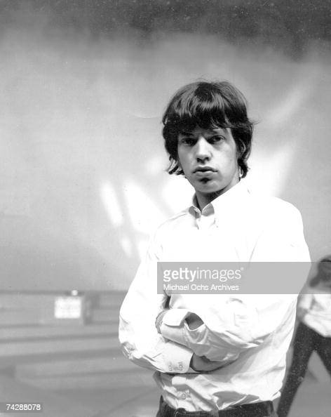 Singer Mick Jagger of the rock and roll band 'The Rolling Stones' poses for a portrait in circa 1966