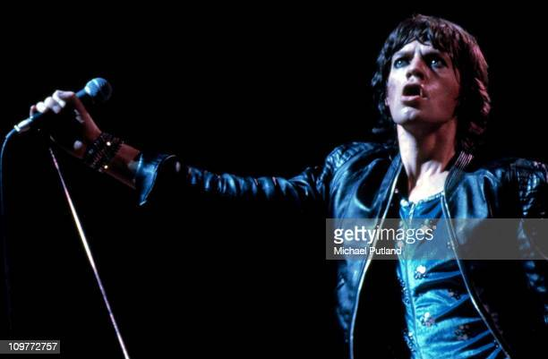 Singer Mick Jagger of the Rolling Stones performing on stage during their 1973 European Tour