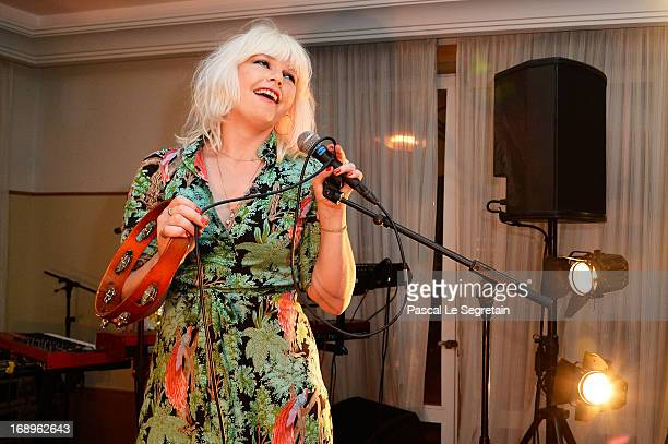 Singer Micky Green performs at the L'Or Sunset Showcase with Micky Green for L'Oreal during The 66th Annual Cannes Film Festival at the Hotel...