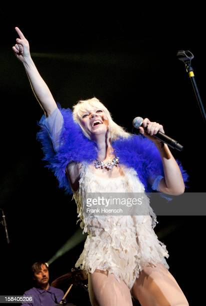 Singer Mieze Katz of MIA performs live during a concert at the MaxSchmelingHalle on December 15 2012 in Berlin Germany