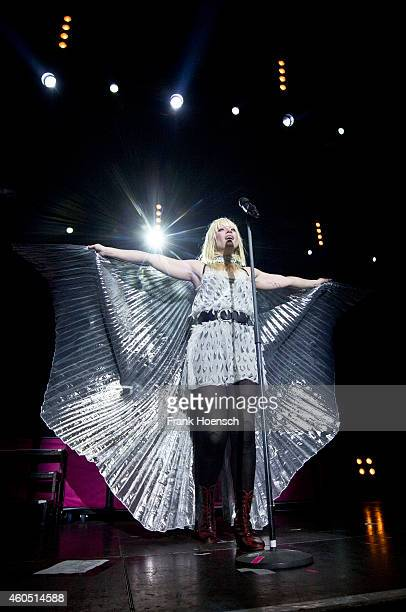 Singer Mieze Katz of the German band MIA performs live during a concert at the Columbiahalle on December 12 2014 in Berlin Germany