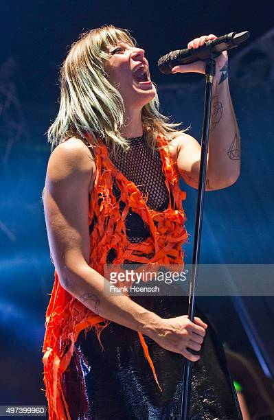 Singer Mieze Katz of the German band MIA performs live during a concert at the Huxleys on November 5 2015 in Berlin Germany
