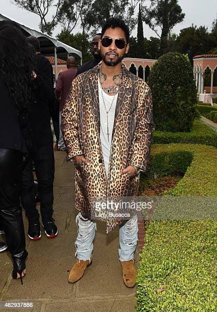 Singer Miguel attends Roc Nation and Three Six Zero PreGRAMMY Brunch 2015 at Private Residence on February 7 2015 in Beverly Hills California