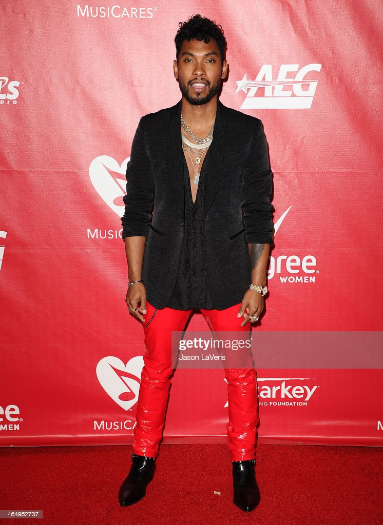 Singer Miguel attends the 2014 MusiCares Person of the Year honoring Carole King at Los Angeles Convention Center on January 24, 2014 in Los Angeles, California.