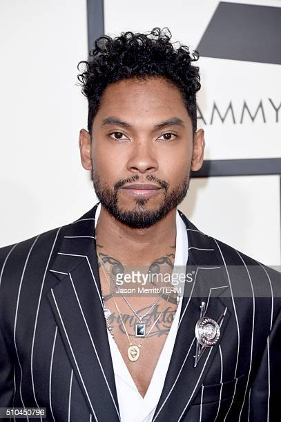 Singer Miguel attends The 58th GRAMMY Awards at Staples Center on February 15 2016 in Los Angeles California