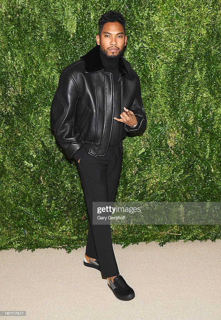 Singer <a gi-track='captionPersonalityLinkClicked' href=/galleries/search?phrase=Miguel+-+Singer&family=editorial&specificpeople=8842866 ng-click='$event.stopPropagation()'>Miguel</a> attends The CFDA and Vogue 2013 Fashion Fund Finalists Celebration at Spring Studios on November 11, 2013 in New York City.