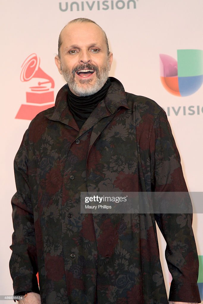 Singer Miguel Bose poses in the press room during the 15th annual Latin GRAMMY Awards at the MGM Grand Garden Arena on November 20 2014 in Las Vegas...