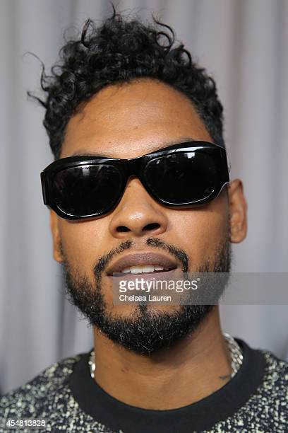 Singer Miguel is seen backstage during the Baja East fashion show at The Standard Hotel on September 6 2014 in New York City