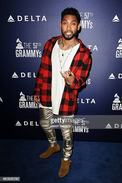 Singer Miguel Jontel Pimentel attends the Delta Air Lines toast to the 2015 GRAMMY weekend at Soho House on February 5 2015 in West Hollywood...