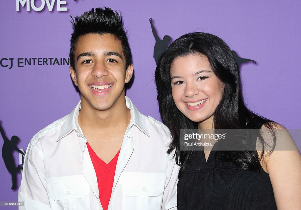 Singer Miguelito (L) attends the premiere of 'Make Your Move' at the Pacific Theaters at the Grove on March 31, 2014 in Los Angeles, California.